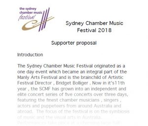 SCMF Supporter Proposal